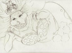 Prosinec - Big Mom - skica